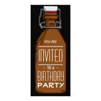 Lustige Bierflasche-Geburtstags-Party Einladung
