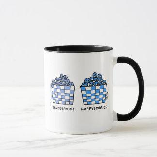 Lustige BlaubeerenHappyberries glücklicher blauer Tasse