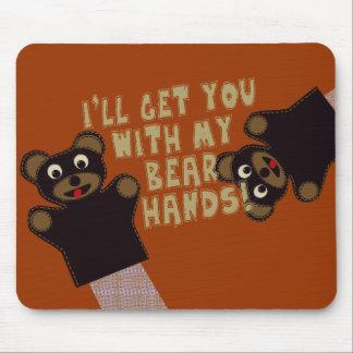 Lustige bloße Hände Mousepads