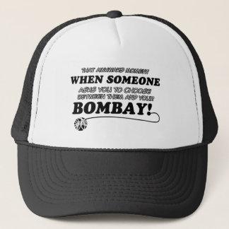 Lustige Bombay-Entwürfe Truckerkappe