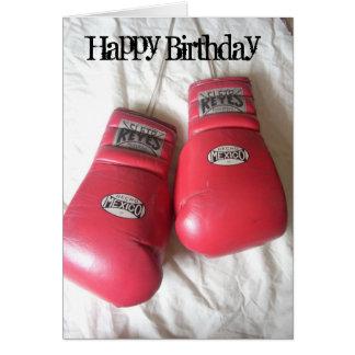 Lustige Boxhandschuh-Geburtstags-Karte