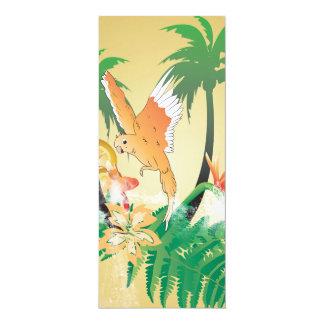 Lustige Budgerigars 10,2 X 23,5 Cm Einladungskarte