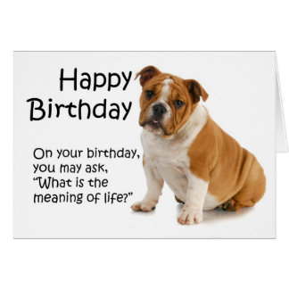 Lustige Bulldoggen-Geburtstags-Karte