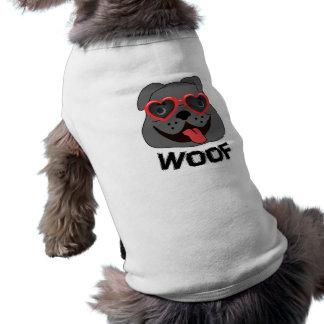 Lustige Bulldoggen-Kleidung für Hunde Ärmelfreies Hunde-Shirt