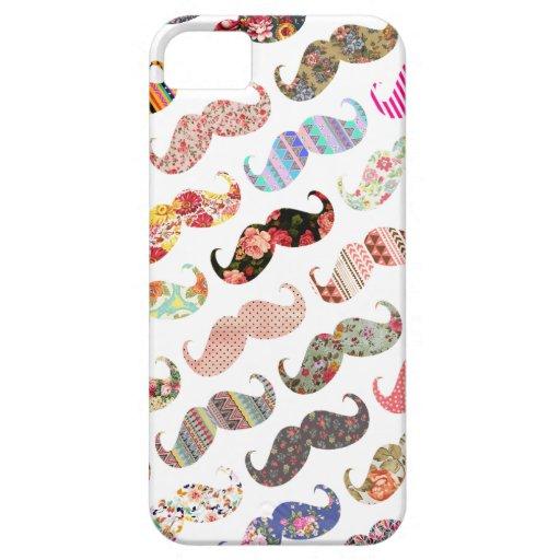 Lustige bunte girly Schnurrbart Schutzhülle Fürs iPhone 5