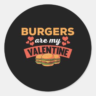Lustige Burger sind mein Runder Aufkleber
