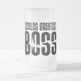 Lustige Büro Humor-Chefs: Der bestste Chef der Matte Glastasse
