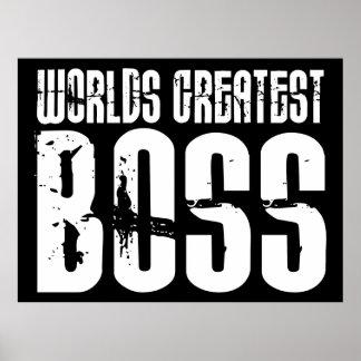 Lustige Büro Humor-Chefs: Der bestste Chef der Wel Plakat