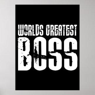 Lustige Büro Humor-Chefs: Der bestste Chef der Wel Posterdrucke