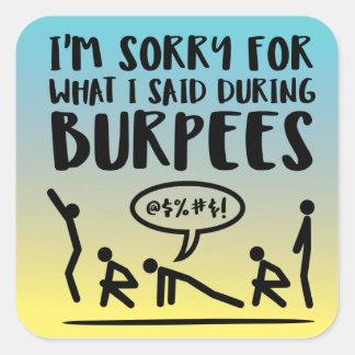 Lustige Burpee Fitness Ombre Aufkleber