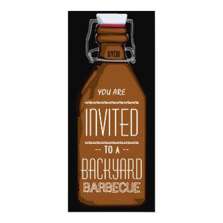Lustige BYOB Bierflasche GRILLEN Party Einladung 10,2 X 23,5 Cm Einladungskarte