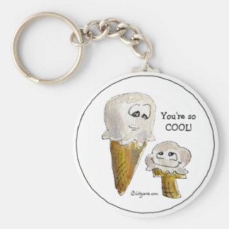 Lustige Cartoon-Eiscreme-Kegel Keychain Schlüsselbänder