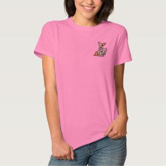 Lustige Cartoon Kundgebung-O Besticktes T-Shirt