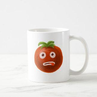 Lustige Cartoon-Tomate Kaffeetasse