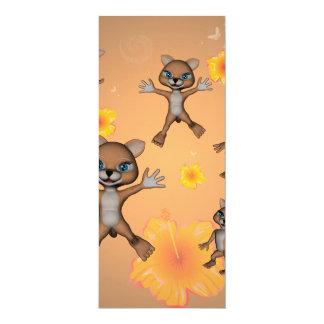 Lustige Cartoonkatze 10,2 X 23,5 Cm Einladungskarte
