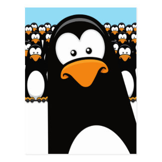 Lustige Cartoonpenguins-Postkarte Postkarte