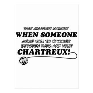 Lustige CHARTREUX Entwürfe Postkarte