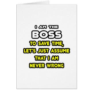 Lustige Chef-T - Shirts und Geschenke Grußkarte