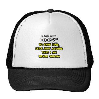 Lustige Chef-T-Shirts und Geschenke Netzcap