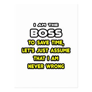 Lustige Chef-T-Shirts und Geschenke Postkarte