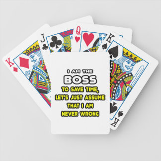 Lustige Chef-T-Shirts und Geschenke Pokerkarten