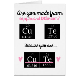Lustige Chemie-Valentinstag-Karte Grußkarte