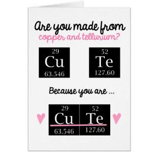 Lustige Chemie-Valentinstag-Karte Karte