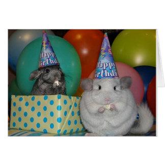 Lustige Chinchilla-Geburtstags-Karte