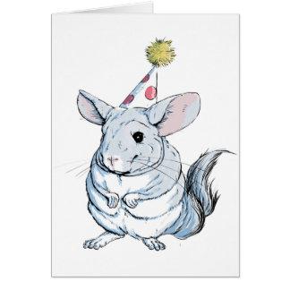 Lustige Chinchilla-Geburtstags-Karte Grußkarte