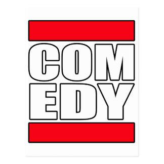 lustige Comic-Komödie stehen oben Schauspieler Postkarte