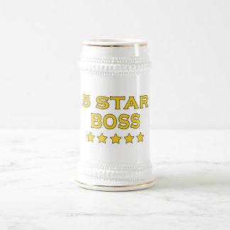 Lustige coole Chefs: Fünf Stern-Chef Bierkrug