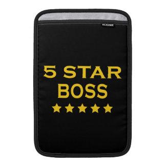 Lustige coole Chefs Fünf Stern-Chef
