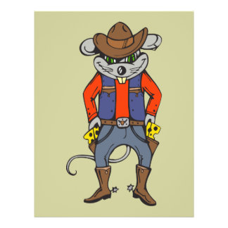 Lustige Cowboy-Maus Flyer
