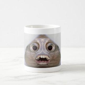 Lustige Creepy Fisch-Kopf-Monster-Kaffee-Tasse