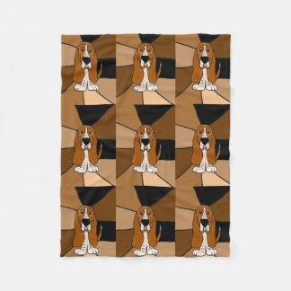 Lustige Dachshund-Jagdhund-Fleece-Decke Fleecedecke