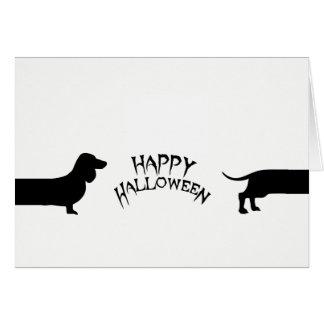 Lustige Dackel Halloween Karte