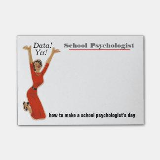 Lustige Daten gefahrene Schulpsychologe-klebrige Post-it Klebezettel