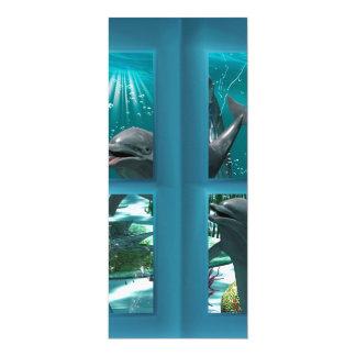 Lustige Delphine 10,2 X 23,5 Cm Einladungskarte
