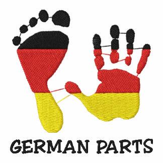 Lustige deutsche Teile gestickt Polo Shirt