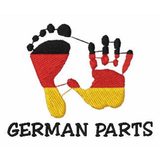 Lustige deutsche Teile gestickt Bestickte Polos