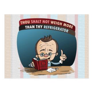 Lustige Diät-verlierendes Gewicht Postkarte