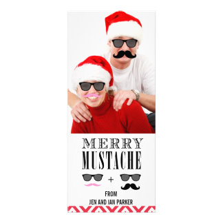 Lustige DIY Schnurrbart-Sonnenbrille-Feiertags-Fot Personalisierte Einladungskarte