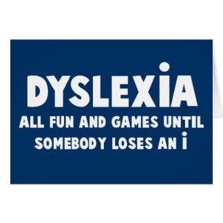 Lustige Dyslexie Karte
