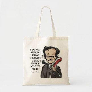 Lustige Edgar Allan Poe-Zitattasche Tragetasche
