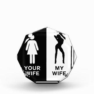 Lustige Ehefrau Acryl Auszeichnung