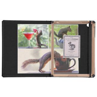 Lustige Eichhörnchen-Bild-Collage iPad Etui
