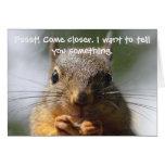 Lustige Eichhörnchen-Geburtstags-Karte
