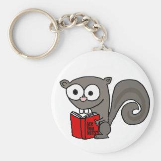 Lustige Eichhörnchen-Lesung sind Sie Nuts Buch Schlüsselanhänger