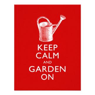 Lustige Einladung im Garten zu arbeiten Show
