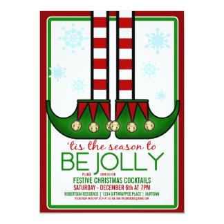 Lustige Elf-Weihnachtscocktail-Party Einladung